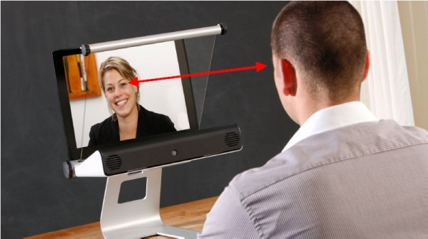 Personal Telepresence direkter Augenkontakt mit Skype Webex Gotomeeting Turbomeeting Webinare